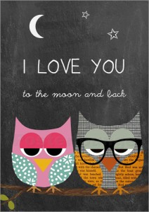 poster-eulen-i-love-you-to-the-moon-and-back-383966