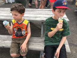 Ice cream treat for good behavior