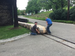 Tony and Brandon making their getaway